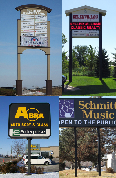 Four Kinds of Pylon Signs in Minneapolis, MN