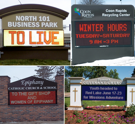 Four Kinds of Message Center Signs in Minneapolis, MN
